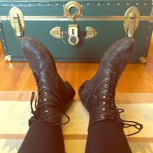 Vintage Diamond Combat Boots (they are perfection)